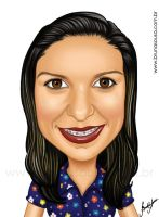 Caricature - Patricia by brunasousa