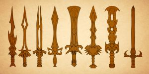 Sword Sketches by Chachava