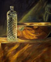still life with glass by squidlifecrisis