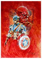 Captain America Heroes Con by markmchaley