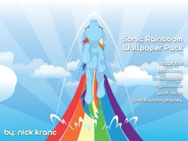 Sonic Rainboom Wallpaper Pack by cow41087