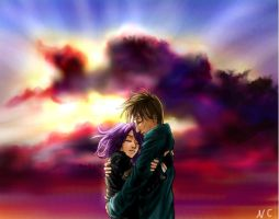 Tonks and Lupin by neysha-sheyla