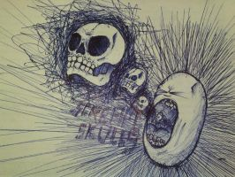 screaming skulls by icoh