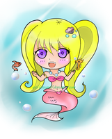 Chibi Mermaid Colored by ice10cream