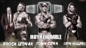 Royal Rumble 2015 - Triple Threat WWE Title Match by MarcusMarcel