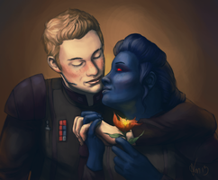 Request: SWTOR OCs Fynn and Lazu'lai by KaraNan
