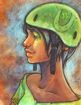 Roller Derby: Lucky Helmet by Of-Red-And-Blue
