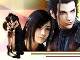Zack x Tifa Wallpaper by Aorka