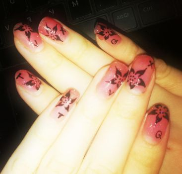 Nails for SMTown Paris 100611 by eye-lover
