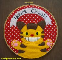 Catbus Embroidery Hoop by iggystarpup