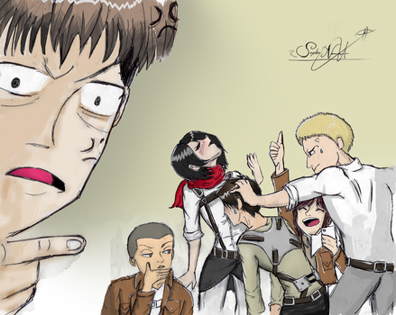 Attack On Titan  - What the squad is up to... by SophieStinsonRandom
