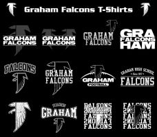 2010 Graham Falcons T-Shirts by robertllynch