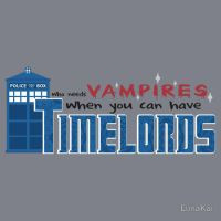 Time Lords over Vampires - T-Shirt by luna--kai