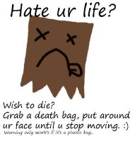 Hate ur life? wish to die? by sararification