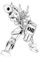 gundam fight vector lines by zhane00