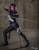 Comikaze 2014 Psylocke Photoshoot 4 by CarolineCosplay