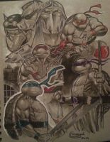 TMNT with copic markers by Sajad126