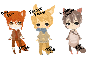 Chibi Adoptables 8 (Open) (2 Left) by ChocoRevolution