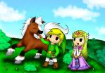 In the meadow with Epona by CiraWasHere