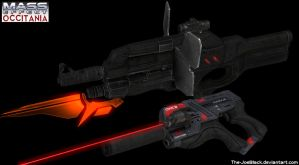 Mass Effect Occitania - Jess' weapons by The-JoeBlack