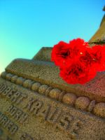 Grave stone and flowers by KristineAdelia