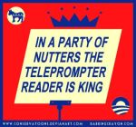 Teleprompter is King by Conservatoons