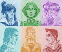 LoK Portraits Assemble! by stuffaeamade