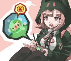 Nanami Play with a Pokemon by chirenbo