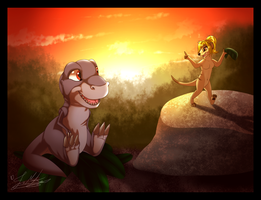 AT: I'll Be Right Back! by ScottishRedWolf