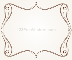Vector Ornament Frame Illustration by 123freevectors