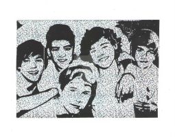 One Direction Group Shot Scratch Magic by Kittyhawk58