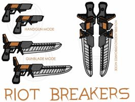 RWBY Weapons: Riot Breakers by Mystic2760