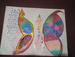 Butterfly wings by kaitlynnasslebell