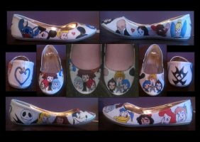 Kingdom Hearts/ Birth By Sleep Shoes by ladyjane447