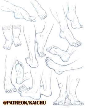 Practice Sheets - Feets by kai-choo