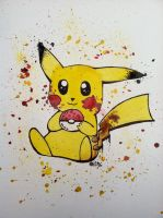 Painted Pikachu by Shinku15