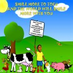 Smile more to tofu and by poderiu