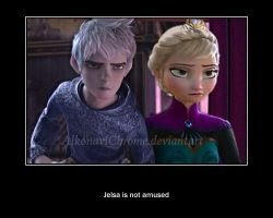 Jelsa is not amused by ohmygoskjackfrost