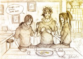 At the dango place by Sanzo-Sinclaire