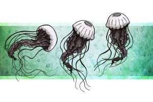 Three Little Jellyfish by Karla-Chan