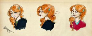HP: Ginny Sketches 01 by Loleia