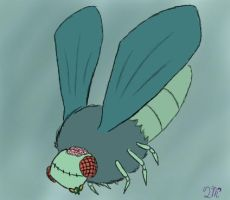 Zombie Moth by QuantumMirage