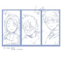 Gryffindor Trio WIP by mione2