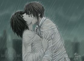 -YAOI- DN: Secret In The Rain by Horus-Goddess