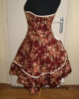 Burgundy corsetted lolitadress by BlackvelvetSITC