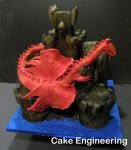 Red Dragon Castle Cake 2 by cake-engineering