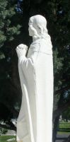 Mount Olivet Cemetery Crucifixion 2 by Falln-Stock