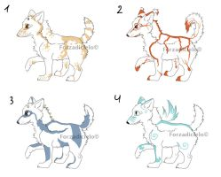 Puppy wolf adopts - 25points by Kelshray