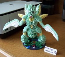 Scyther Angle - 3D Origami by o0DreamMyst0o