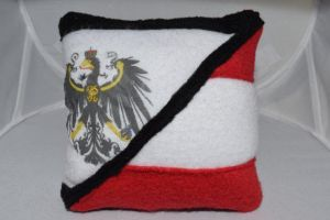 Tiny Prussia and Austria Flag Pillow by Annelixa